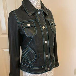 Cute Black Leather Jacket!